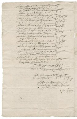 Statement of account from Bartholomew Kemp to Nathaniel Bacon and Sir Nicholas Bacon, 1st bart.