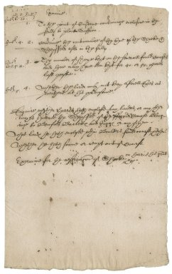 Memoranda of Townshend family concerning enclosures and trespasses