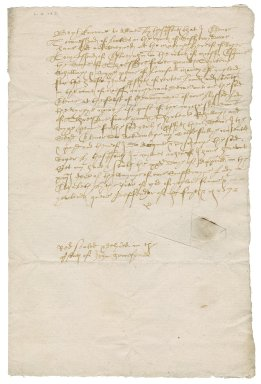 Acquittance for Sir Roger Townshend (1543?-1590) and Mistress Eleanor Townshend