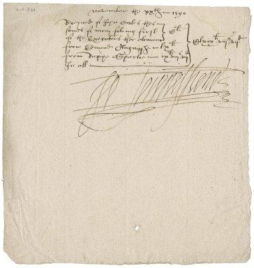 Receipt for John Owles to Sir John Townshend