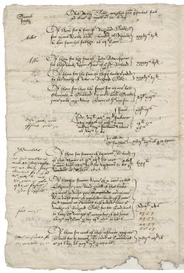 Notes on leases of Sir John Townshend