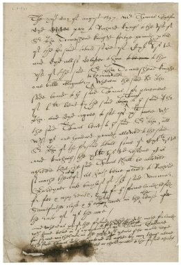 Acknowledgement from Sir John Townshend to Thomas Gibson's payment to Richard King