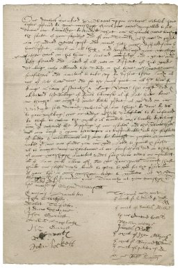 Tenants' petition to Sir Roger Townshend (1543?-1590)
