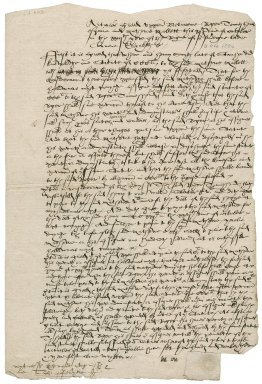 Indented articles of Sir Roger Townshend (1543?-1590) agreed with Matthew Mallett