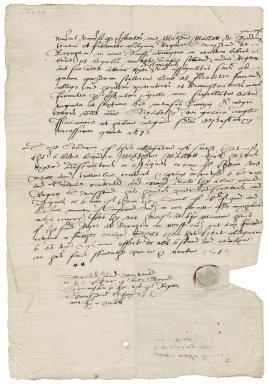 Bond from Matthew Mallett to Sir Roger Townshend (1543?-1590)