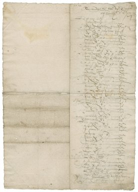 Apothecary's bill to Sir Roger Townshend (1543?-1590)