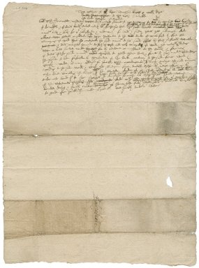 Petition from Roger Townshend and William Daxe to the Lord Treasurer of England : draft