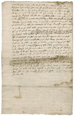 Deposition concerning the finances of Sir Roger Townshend's, 1st bart., late grandmother, Jane, Lady Berkeley
