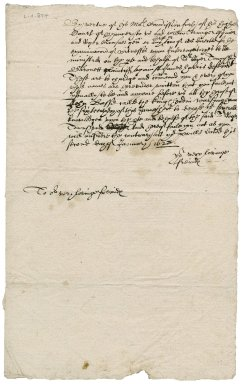 Order to 8 men to appear for deposition in the case of Sir Roger Townshend, 1st bart., plaintiff v. James Harris (Harryes) defendant : copy