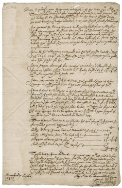 Richard Mason's plea for payment of money owed him by the late Roger Townshend, 1st bart.