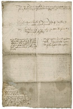 Notes on case in Ditchingham, Norfolk, between Robert Linacre and George Gardiner, Dean of Norwich
