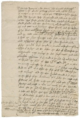 Agreement of sale from John Harrison to William Stump