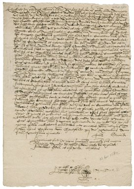 Injunction from Elizabeth I to William Heydon and Anne and Miles Corbett : true copy