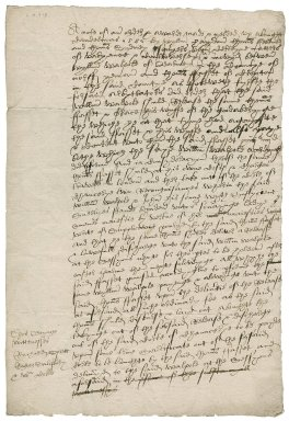 Note of order and award in the dispute between William Walpole and Thomas Fassett (Fawcett, Forsset)