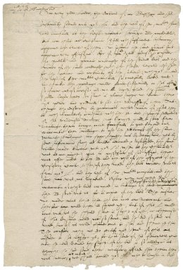 Letter from Nathaniel Bacon, and others, to Robert Dudley, 1st Earl of Leicester : draft