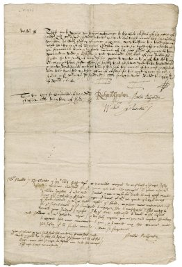 Warrant from Richard Gresham, Augustin Palgrave, and William Yelverton, justices of the peace and Quorum to the chief constables of the Hundred of Holt