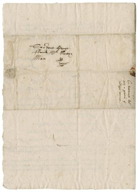 Letter from Ciprian Sallouste and William Gyrlinge, Southold, Norfolk, to Martin Man