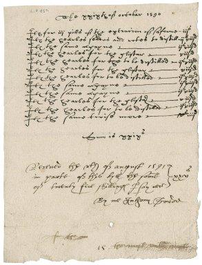 Apothecary's bill