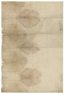 Letter from Nathaniel Bacon to the Master and Fellows of Christ's College, Cambridge : draft