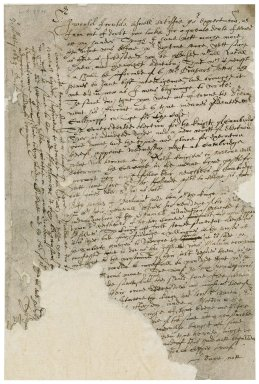 """Letter from Sir Roger Townshend, 1st bart., Barbican, to """"Sir"""" : fragment"""
