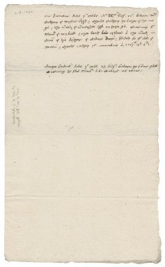 Memorandum of two indentures between William and Charles Calthorp and Thomas Gaudy
