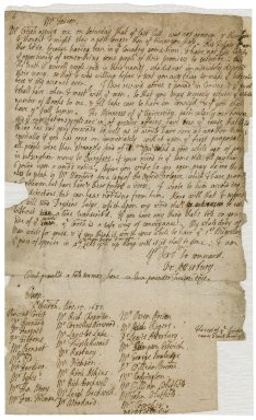 Letter from Francis Atterbury, Christchurch, Oxford, to Jacob Tonson I : autograph manuscript signed