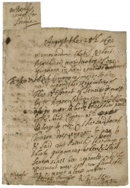 Copyright assignment from Richard Bentley to Jacob Tonson : autograph manuscript signed