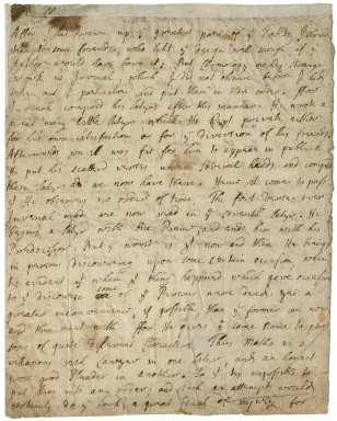 Letter from Thomas Creech to unidentified recipient : autograph manuscript signed