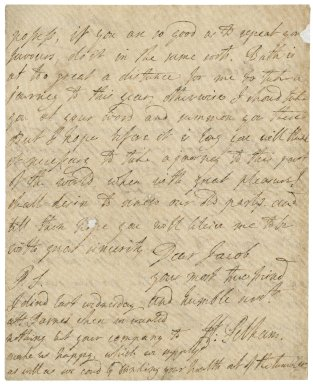 Letter from Henry Pelham to Jacob Tonson I : autograph manuscript signed
