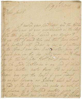 Letter from Henry Pelham to Jacob Tonson I : autograph manuscript signed