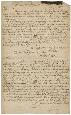 Letters from Alexander Pope to Jacob Tonson II : manuscript copies