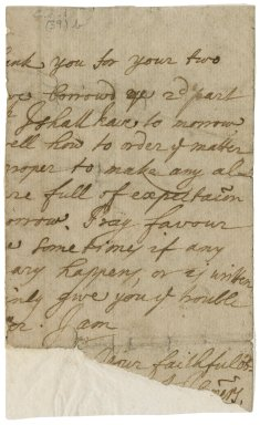 Letter from John Somers, Baron Somers, to Jacob Tonson I : autograph manuscript signed