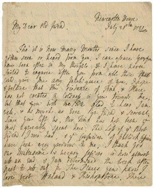 Letter from Thomas Pelham-Holles, Duke of Newcastle, Newcastle House, to Jacob Tonson I : autograph manuscript signed
