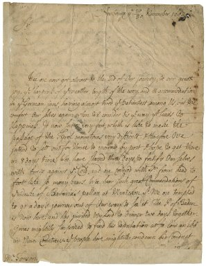 Letter from Abraham Stanyan, Augsburg, to Jacob Tonson I : autograph manuscripts signed
