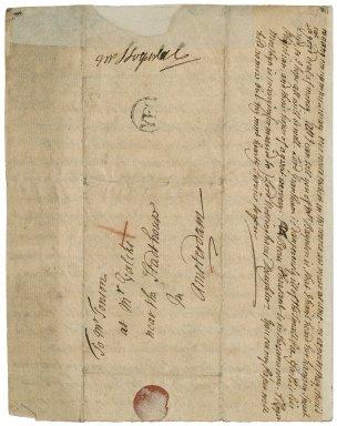 Letter from Sir John Vanbrugh, London, to Jacob Tonson I, Amsterdam : autograph manuscript