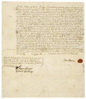 Will of Jacob Tonson I : manuscript signed