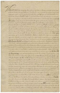 Assignment of share of patent from Jacob Tonson I to Jacob Tonson II : manuscript signed