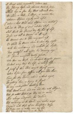 An epistle to my Lord Cobham : manuscript poem