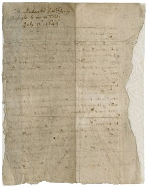 Letter signed from Colonel John Luttrell, Barnstaple, to Robert Bennet, Tenby
