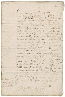 Letter from Edward Herle, sheriff of Cornwall, and Captain Thomas Rawlins, Kenegie, to Colonel Robert Bennet at the Mount or Marazion (Market Jew)