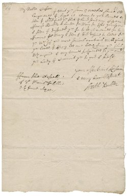 Letter from Lieutenant-Colonel Anthony Buller, Castle of St. Mary's, Scilly, to Colonel Robert Bennet