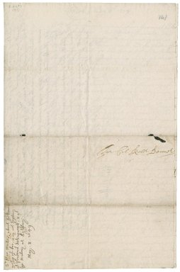 Letter from Sir Hardress Waller, London to Colonel Robert Bennet