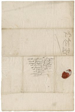 Letter from John Moyle, London, to Colonel Robert Bennet and Anthony Rous, Landrake (Lanrack)