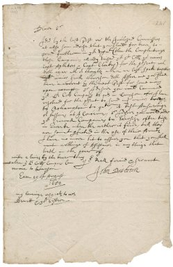 Letter from Colonel John Desborough (Disbrowe), Exeter to Colonel Robert Bennet near Launceston
