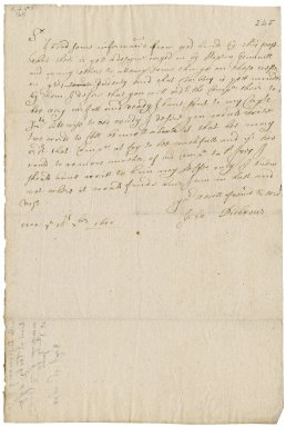 Letter from Colonel John Desborough, Exeter, to John Clerke? : copy