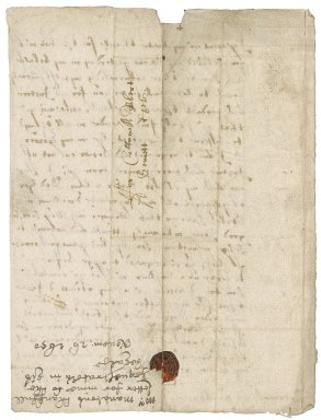 Letter from Ambrose Manaton, Trecarrell, to Colonel Robert Bennet