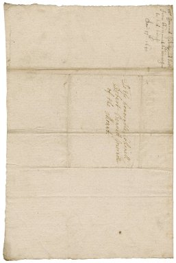 Letter from Francis Godolphin, St. Michael's Mount, to Colonel Robert Bennet, governor of the Mount