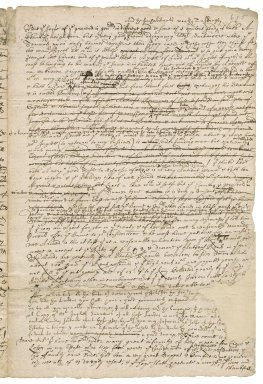 Letter from Robert Bennet, Hexworthy, to William Bennet : draft