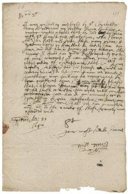 Letter from William Wrey, Liskeard (Lyskerd), to Colonel Bennet