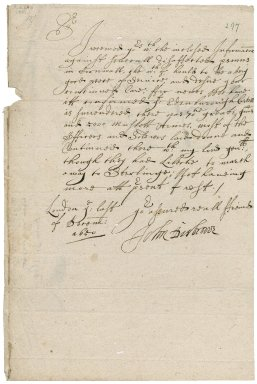 Letter from Major-General Desborough, London, to Colonel Bennet